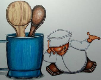 Blue Glass, Spoons and Joy