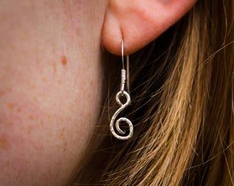 Silver Swirl Celtic Drop Earrings