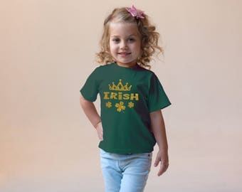 Irish Princess Charm Green Rabbit Skins 2T 3T 4T Shirt Toddler Kid T Shirt Top Tee T-Shirt Funny St. Patrick's Day Leprechaun Clover