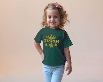 Irish Princess Charm Green Rabbit Skins 2T 3T 4T Shirt Toddler Kid T Shirt Top Tee T-Shirt Funny St. Patrick's Day Leprechaun Clover
