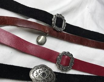 Genuine Handmade Leather Chokers
