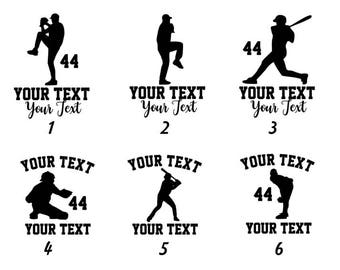 Multi-Color Baseball Decal or Iron On - Personalized Team/Name/Number