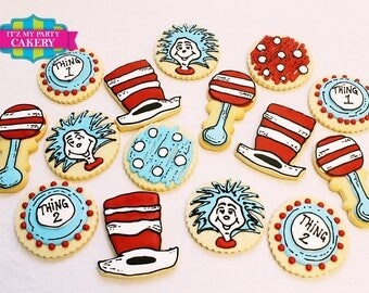 Thing 1 & Thing 2 Cookies- 1 Dozen