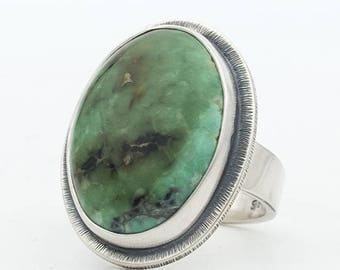 Blue Boy Variscite, Natural Variscite, Sterling Silver Ring, Turquoise Jewelry, HandMade Silver Ring, Southwestern Jewelry, Green Turquoise