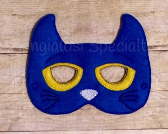 Pete The Cat Inspired Mask/Child/Costume/Gift/Christmas/Party Favor/Halloween Costume/Photo Booth/Birthday/Adult/Party/Idea