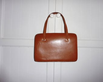Vintage leather bag - 1950s
