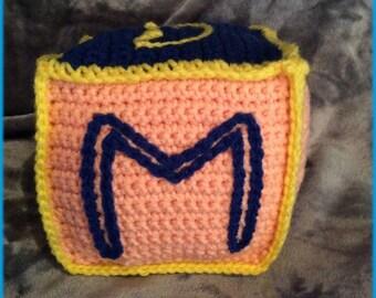 Letter M Soft Block, Hand Crocheted