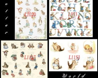 beatrix potter Cross Stitch special offer 4 patterns L933, L1117, L1020, L1153 beatrix potter Pattern pdf files - L1380