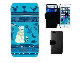 Cat Wallet case iPhone 6S 6 7 8 Plus, SE X 5S 5C 5 4S, Samsung Galaxy Flip S8 Plus, S7 S6 Edge, S4 S5 Mini, cats cat phone case gifts. F358