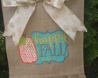 Happy Fall garden flag