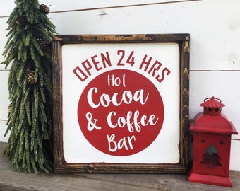 Hot Cocoa Bar Hot Chocolate Bar Coffee Bar sign
