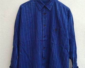 1000 ON SALE Vintage 90s Issey Miyake Avant Garde Stripes Psychedelic Rock Star Men's Casual Shirt