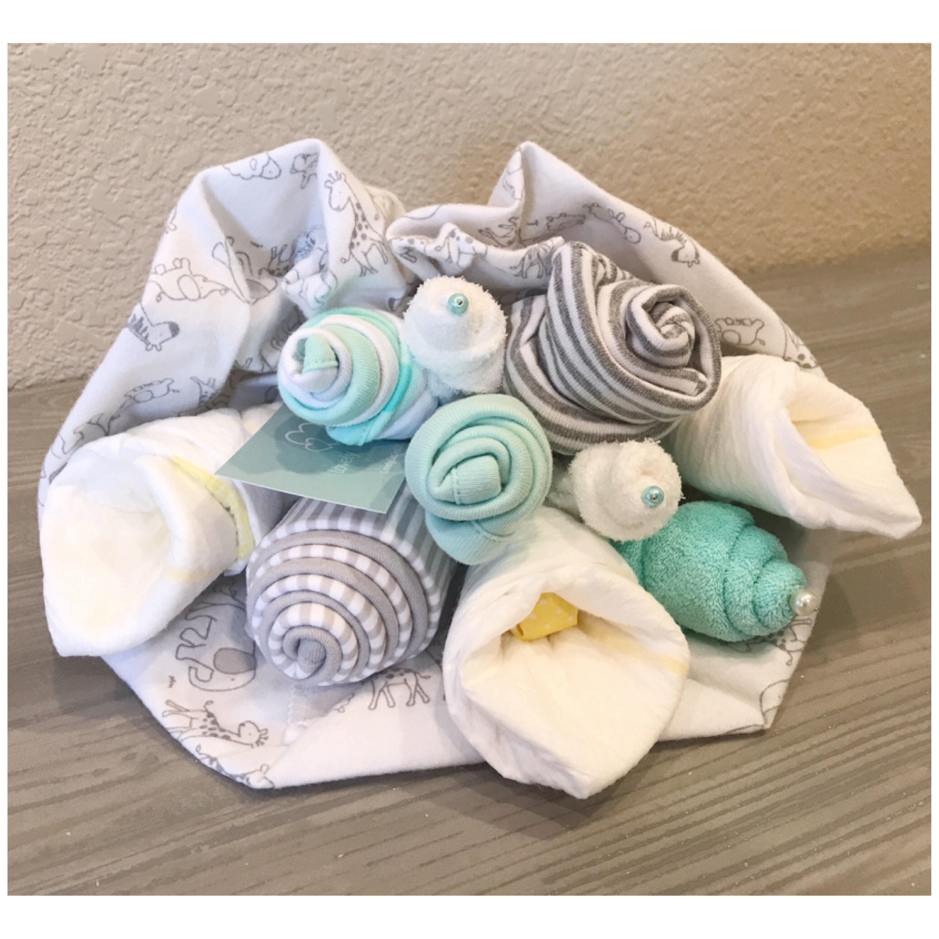 Elephant Baby Shower Gift   Gender Neutral Baby Gift Bouquet   New Mom Gift    1st Motheru0027s Day Gift   Gender Neutral Baby Shower Gift
