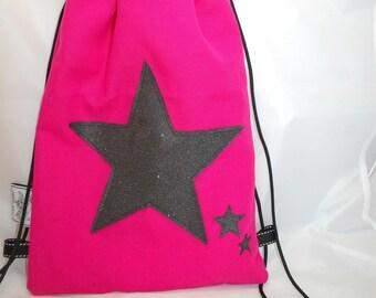 Backpack child customizable model starry Fuchsia bag school - bag nursery