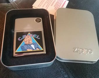 mint Zippo camel in triangle lighter
