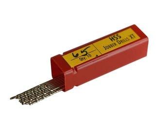 Pack of 10 Euro-Quality HSS Twist Drills #65 Metal Wood Jewelry Making Drill Set - DRL-228.65