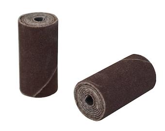 "25/Pk 1"" x 1/2"" Coarse 80 Grit Aluminum Oxide Cartridge Rolls Jewelry Making Metal Polishing Abrasives - 11.01272"