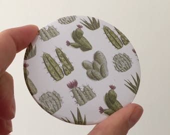 Cactus pocket mirror - cute makeup mirror - mirror - gift for her