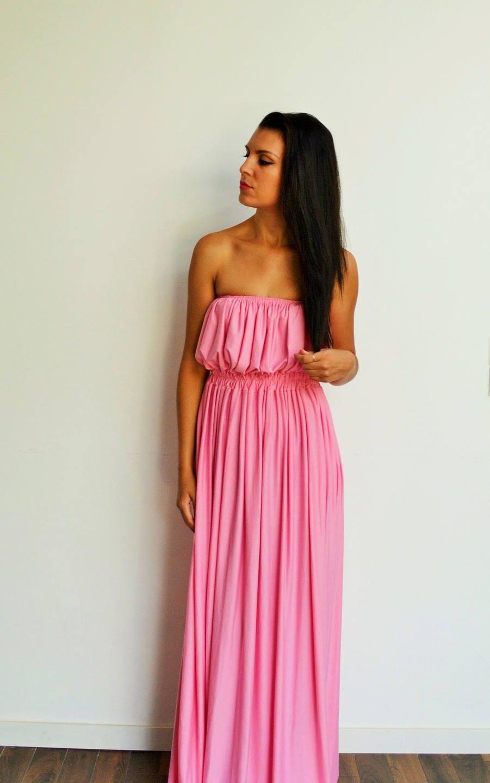 Maxi robe longue rose pastel robe longue boh me robe longue for Robe maxi au mariage