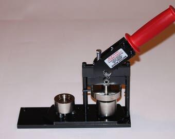"1"" Fabric + Paper Round Button Press - Paper and Fabric Button Maker Machine by Tecre #100 1 inch Fabric Button Press + 400 Button Parts!"