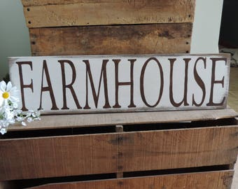Farmhouse Hand Painted Wooden Sign, Home Decor, Rustic Wooden Sign