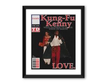 Kendrick Lamar Kung Fu Kenny #9 LOVE. Comic Print