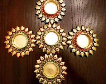 Floating tealight candle diyas - single piece
