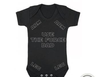 10% OFF SALE Funny Star wars baby bodysuit for baby boy or baby girl, funny star wars gift for new dad, star wars baby shower gift