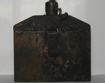 WW2 Original Russian Metal Box for Battery Backlight LUCH -1 Mortar Artillery