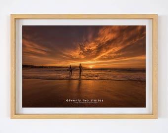 Bondi Beach Sunrise Photography Wall Print