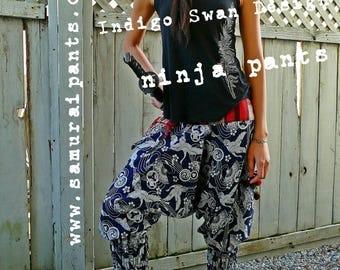 New Indigo Swan Design Ninja Pants (Unisex)