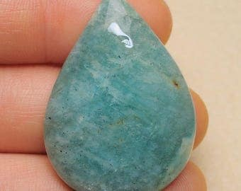 Natural Amazonite 36 x 25 x 7 mm cabochon  ( #J1622)