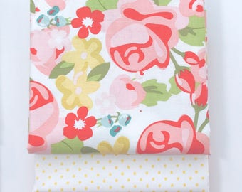 1/2 Yard Bundle Hello Gorgeous by My Minds Eye For Riley Blake Designs - 3 Fabrics