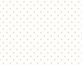 1 Yard Bee Backgrounds by Lori Holt for Riley Blake Designs- 6381 Crosstitch Gray