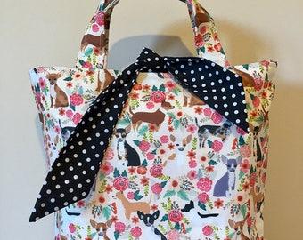 Chihuahua dog print handbag