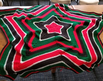 African Flag Colored Throw