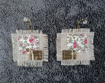"""Abstract floral"" earrings"