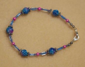 Glass Bead Bracelet - Name:  Cotton Candy
