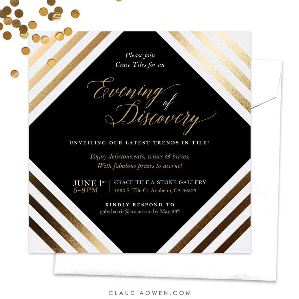 Work Function Party Invitation / Gala Night Party Invitation /