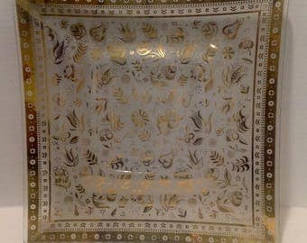 MCM Glass Tray Georges Briard Persian Garden