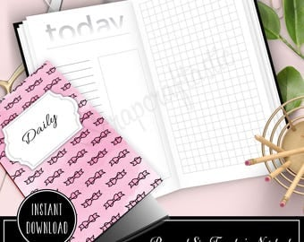 Daily Lists, Column and Grid Personal Size Traveler's Notebook Printable Inserts