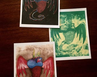 Anatomical Dragon Heart Art Print