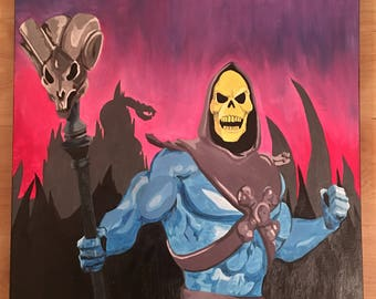 Skeletor oil painting