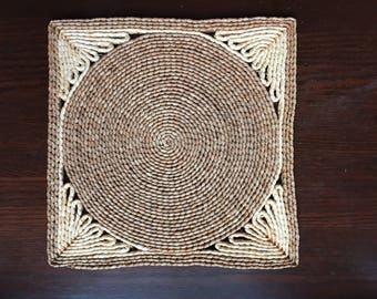 Vintage Woven Wicker Placemat