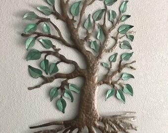 Brown Tree - Metal Art - Wall Decor - Wall Art