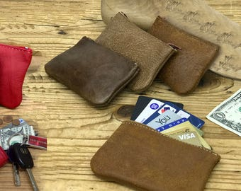 Sale!! Leather coin pouch leather coin purse leather coin wallet leather mens coin wallet personalized coin purse  Men's gift Women's gift