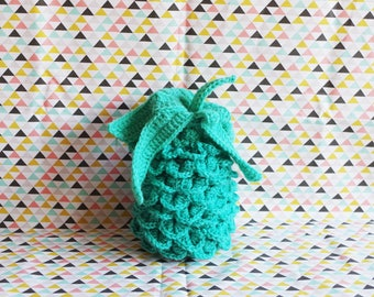 Green decorative water crocheted pineapple