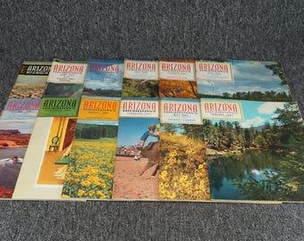 Vintage Lot Of 12 Arizona Highways Magazines