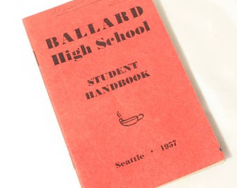 Ballard High School Student Handbook, Seattle Memorabilia, 1957 School Handbook