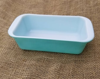 Pyrex Loaf Pan Turquoise 213  Vintage Cookware
